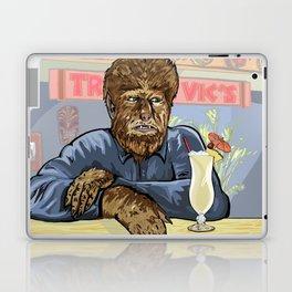 Wolfman drinking a pina colada at Trader Vics. Laptop & iPad Skin