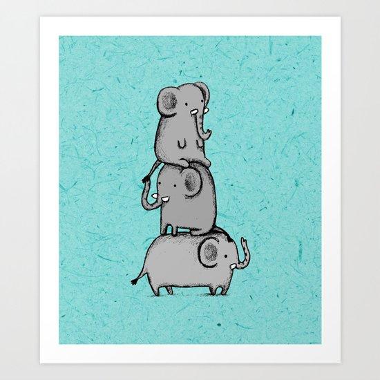 Elephant Totem Art Print