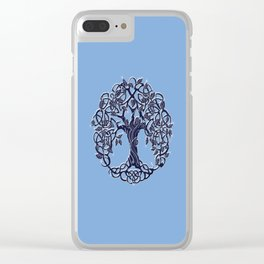 Tree of Life Blue Clear iPhone Case