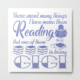 Reading Gigi Metal Print