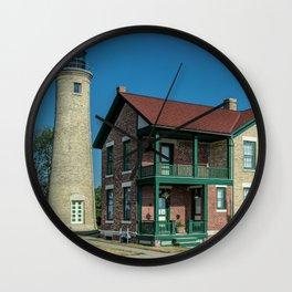 Southport Light Station Lighthouse Kenosha Wisconsin Lake Michigan Wall Clock