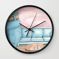 sofa Wall Clocks featuring Butt and Sofa by David Domike