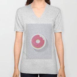 Pink Donut Unisex V-Neck