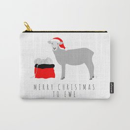 Merry Christmas to Ewe Carry-All Pouch