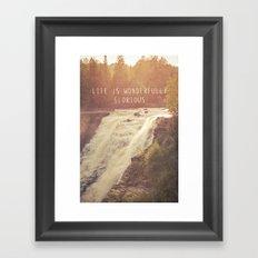 wonderful waterfalls Framed Art Print