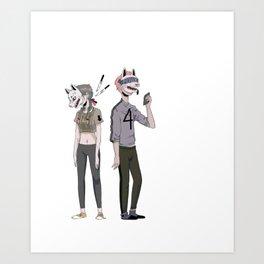 f o u r Art Print