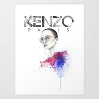 kenzo Art Prints featuring KENZO by GabrielaSzjada