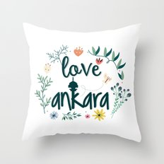 I love Ankara Throw Pillow