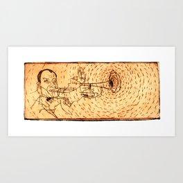 Louis playing Trumped Art Print