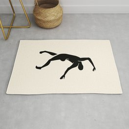 Dancing Nude in Black Rug