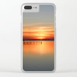 Sunset in Porto tolle Italy Clear iPhone Case