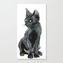 Mon ptit chat noir Canvas Print