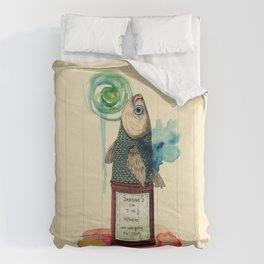 Fish on tin Comforters