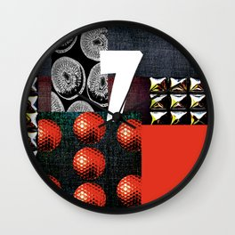 RED #THE 7 SERIES Wall Clock