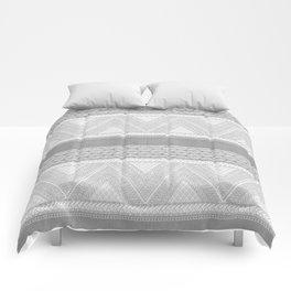 Dutch Wax Tribal Print in Grey Comforters