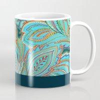 paisley Mugs featuring paisley, paisley by Ariadne