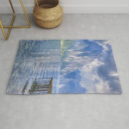 Traunsee Lake Austria Art Rug