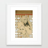 wild things Framed Art Prints featuring Wild Things by SuburbanSavage