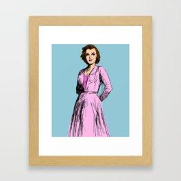 Marilyn In Purple Framed Art Print