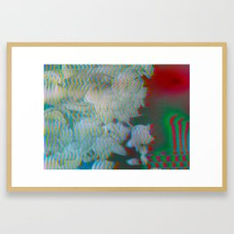 Analogue Glitch Radioactive Bouquet Framed Art Print