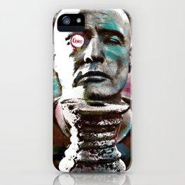 Marlon Brando under brushes effects iPhone Case