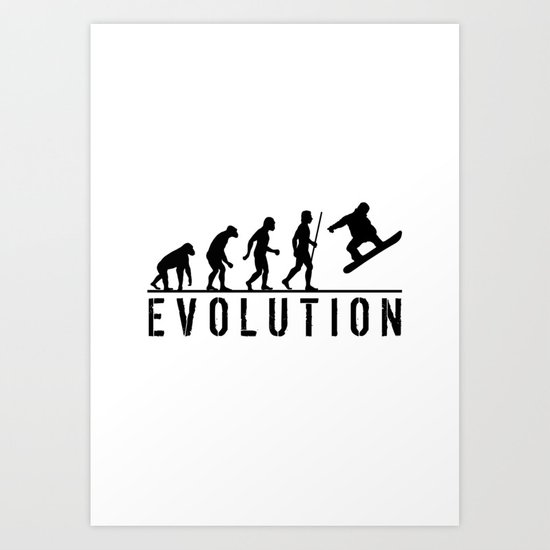 The Evolution Of Man And Snowboarding by macromc