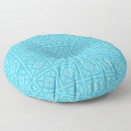 Teal Blue Tribal Pattern Floor Pillow