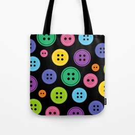Colorful Rainbow Buttons Tote Bag
