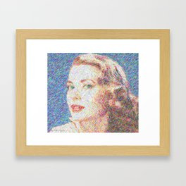 A soft color for a sweet expression Framed Art Print