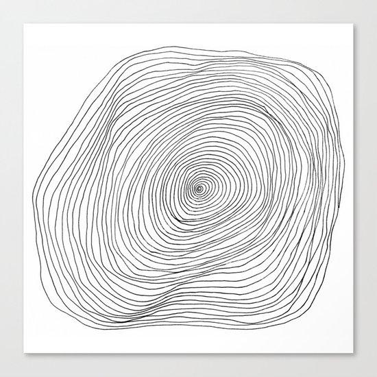 Spiral Rings Canvas Print