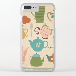 Tea Party Clear iPhone Case