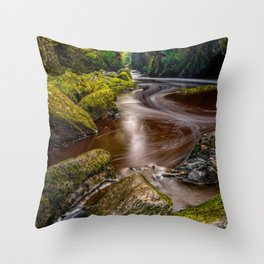 Fairy Glen Gorge Throw Pillow