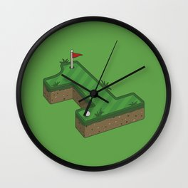 Hole In One Wall Clock