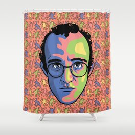 Haring Shower Curtain