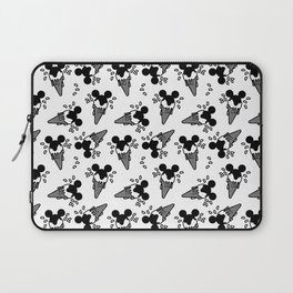 B&W Mickey Icecream Splash Pattern Laptop Sleeve