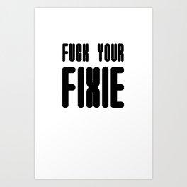 Fixie Art Print