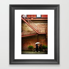Through A Rainy Lens Framed Art Print