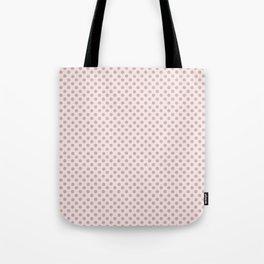 Taupe Polka Dots on Pink Tote Bag