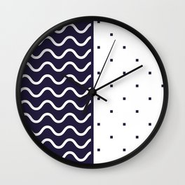 Background in Neo Memphis Style Colorful Decorative pattern Wall Clock