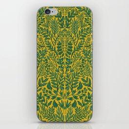 Green Botanical Damask iPhone Skin