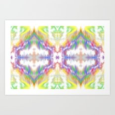 Tie Dyed Impression Art Print