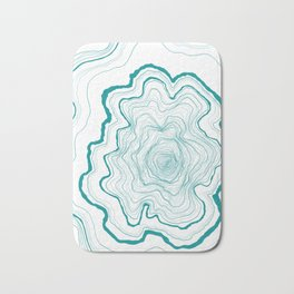 Tree Rings of Turquoise Bath Mat