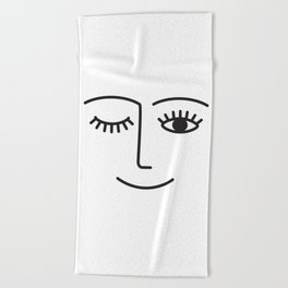Wink Beach Towel