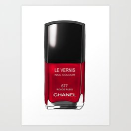 Nail Polish Rouge Rubis Art Print