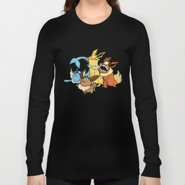 Pokémon - Number 133, 134, 135 and 136 Long Sleeve T-shirt