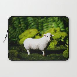 A white sheep in the forest Laptop Sleeve