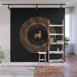 Save the Drama For Yo' Llama (Copper on Black) Wall Mural