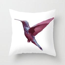 Beautiful Purple Violet Hummming Bird Throw Pillow