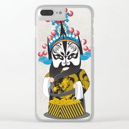 Beijing Opera Character ZhangFei Clear iPhone Case