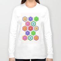 quilt Long Sleeve T-shirts featuring SWEET QUILT by Noa Raiter Hatzbani